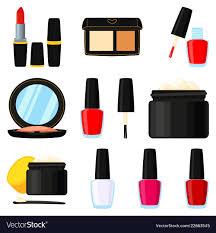 cartoon makeup elements royalty free vector