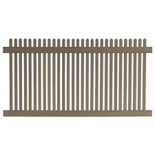 Veranda 4 Ft H X 8 Ft W Cedar Grove Chestnut Brown Vinyl Picket Fence Panel 8898350hd The Home Depot