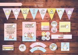 Molang Kawaii Kit Personalizado Imprimible Candy Bar Cumple