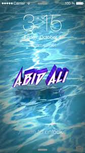 preview of water for name abid ali