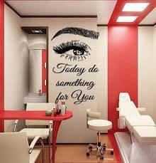 Eyelashes And Eyebrows Wall Decal Lashes And Brows Window Etsy Home Beauty Salon Beauty Salon Decor Home Nail Salon