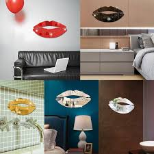 3d Wall Sticker Decoration Diy Removable Lips Mirror Wall Stickers Decal Art Pvc Home Room Decoration Diy 5 11 Wall Stickers Aliexpress