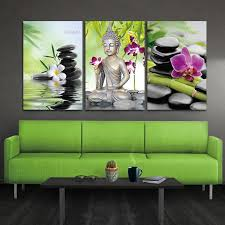 Mega Deal C261a1 Canvas Painting Buddha Wall Art Spa Zen Stone Canvas Print Painting Orchid Flower Home Painting Wall Decal Art Keep Peace Cicig Co