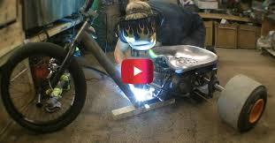motorized drift trike is an awesome diy