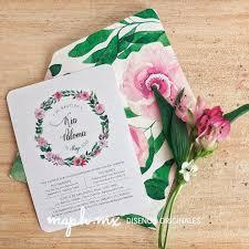 Que Bonitas Invitaciones Para Kia Con Tantas Flores Me Hace Muy