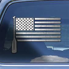 Usa Flag Canoe Paddle Decal Sticker Rowing Rower Canoe Oar Window Decal Sticker Ebay