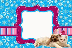 Perro Y Gato En Navidad Invitaciones Para Imprimir Gratis