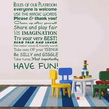 Amazon Com Rules Of Our Playroom Playroom Rules Wall Decal Kid Room Decal Baby Nursery Wall Decal Children Dark Brown S Kitchen Dining
