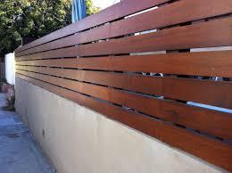 Horizontal Fence Stone Walls Garden Fence Design Horizontal Slat Fence