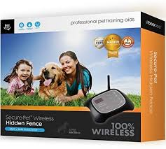 Amazon Com Secure Pet Hidden 100 Wireless Fence And Containment System With 2 Collars Waterproof Easy Setup Plug N Play Safe Harmless Free Ebook Sit Boo Boo Pet Supplies