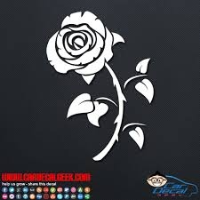 Bachelor Rose Flower Vinyl Car Wall Decal Sticker