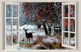 Deer Snow Christmas Window View Repositionable Color Wall Sticker Wall Mural Ebay