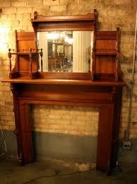 antique arts crafts fireplace mantel