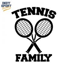 Dual Tennis Racquets Crossed With Tennis Family Text Decal Car Stickers And Decals Tennis Tennis Racquets Football Decal
