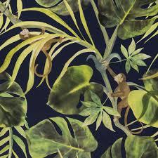 monkey business indigo wallpaper