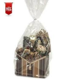 clear cello cellophane gift bags basket