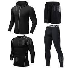 mens fitness clothes set men quick dry