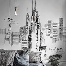 1pc Pvc Large Wall Stickers Tall City Buildings Wall Stickers For Living Room Background Mural Decal Art Diy Home Decoration Wall Sticker Sticker Pvcpvc Wall Sticker Aliexpress