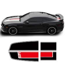 Car Hood Trunk Engine Cover Bonnet Bumper Rear Racing Stripe Vinyl Decal Sticker For Chevrolet Camaro Ss Z28 Zl1 Rs Accessories Car Stickers Aliexpress