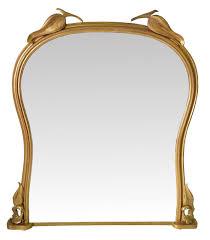 19th century gilt overmantle mirror
