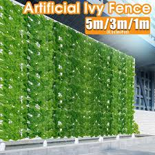 1 5m Artificial Ivy Privacy Hedges Faux Vine Leaf Fence Screen Garden Greenery Panel Backyards Decoration 0 5mx1m Pcs Wish