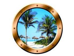 Vwaq Palm Trees Wall Decal Porthole Beach Scene Window Sticker Wall Art Peel And Stick Decor Med Vwaq Gp14 Newegg Com