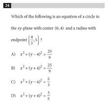 circle equation practice questions
