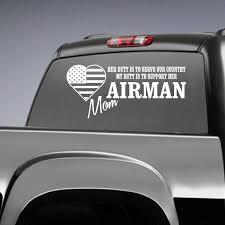 Airman Mom Her Duty Decal Car Decals Vinyl Air Force Dad Vinyl Decals