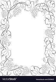 frame wine label vine gs vector image
