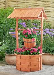 planter wooden lawn garden yard decor