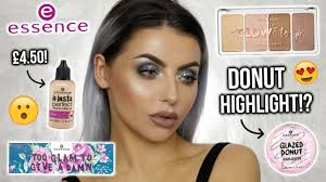 testing new essence makeup first