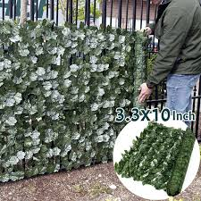 Artificial Hedge Leaves Faux Ivy Leaf Privacy Fence Screen Garden Decor Backyards Wedding Decorations Wish