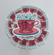 Disney Teacup Sticker Waterproof Vinyl Sticker For Water Etsy