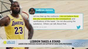 LeBron James says Daryl Morey was ...