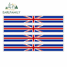 Earlfamily 4pcs Car Stripe England Flag Sticker Vinyl Decal Bike Moto British United Kingdom Uk Car Stickers Car Stickers Aliexpress