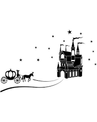 Sales For Cinderella Wall Decal Black 59 X38