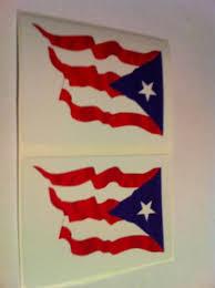 Puerto Rico Flag Car Bumper Sticker Decal Gloria R Walkerert