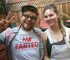 Is Adam Conover ready to wife up girlfriend Lisa Hanawalt? Read more about  his real sister   Comedy actors, Comedians, Celebrity gossip