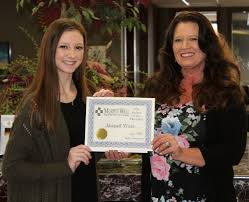 2018 April PCHS Student of the Month: Abigail West Murphy Wall
