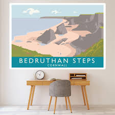 Bedruthan Steps Wall Sticker By Andy Tuohy