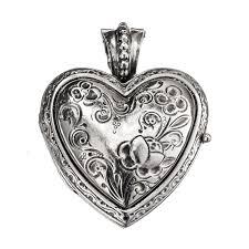 sterling silver engraved heart locket
