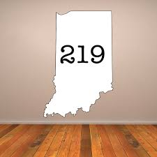 Indiana 219 Area Code Vinyl Wall Decal The Decal Bros
