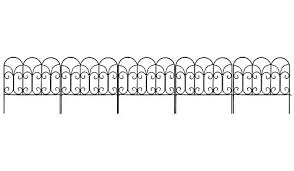 Decorative Garden Fence 46cm X 15m Rustproof Green Iron Landscape Wire Folding Fencing Ornamental Panel Border