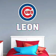 The Chicago Cubs Stacked Personalized Name Giant Mlb Transfer Decal Wall Decal From Fathead Is A Great Way To Personaliz Chicago Cubs Mlb Giants Wall Decals