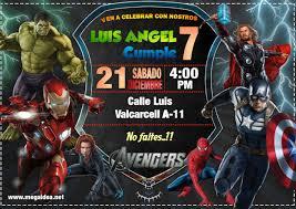 Invitacion De Los Vengadores En Powerpoint Avengers Invitation