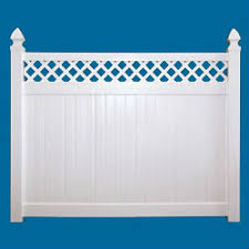 Quality Vinyl Fence With Lattice Top Diy Vinyl Products