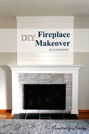 diy fireplace makeover in one