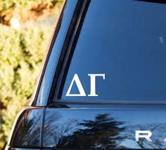 Delta Gamma Decal Delta Gamma Car Decal Delta Gamma Car Sticker Delta Gamma Sorority Decal Greek Decals Gr Car Decals Sorority Decals Alpha Phi Decal