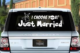 Pokemon Just Married Wedding Vinyl Window Cling Decal 2552945 Weddbook