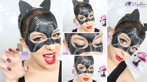 catwoman mask makeup tutorial by